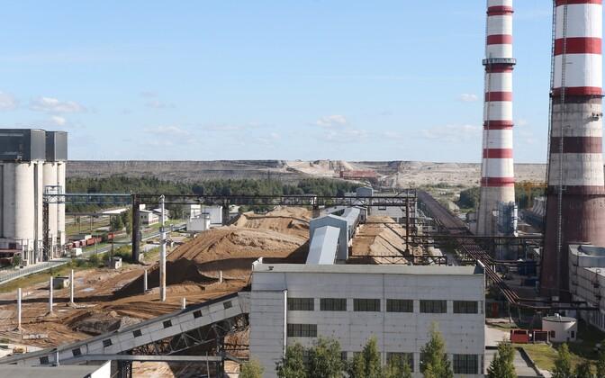 Завод по производству сланцевого масла в Аувере.