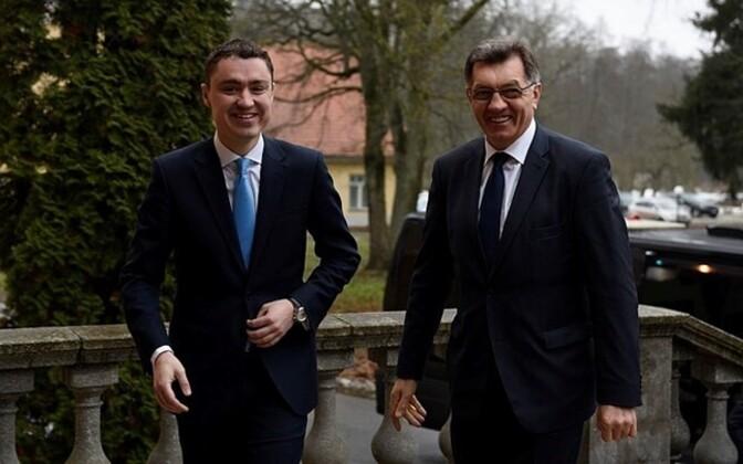 Estonian Prime Minister Taavi Rõivas and Lithuanian Prime Minister Algirdas Butkevičius.