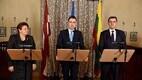 Baltic prime ministers Laimdota Straujuma, Taavi Rõivas and Algirdas Butkevičius.