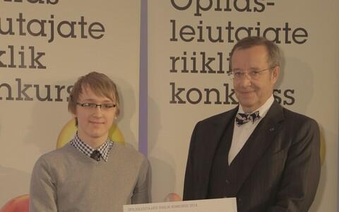 Andri Soone koos president Toomas Hendrik Ilvesega.