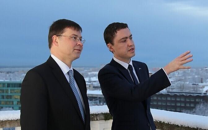 Valdis Dombrovskis ja Taavi Rõivas