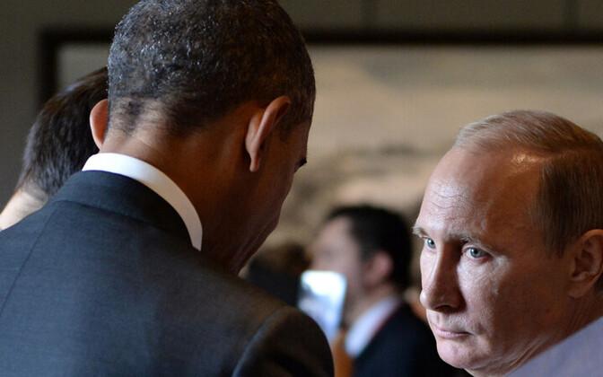 Presidendid Barack Obama ja Vladimir Putin 11. novembril 2014 Aasia ja Vaikse Ookeani Piirkonna Majanduskoostöö (APEC) tippkohtumisel Pekingis