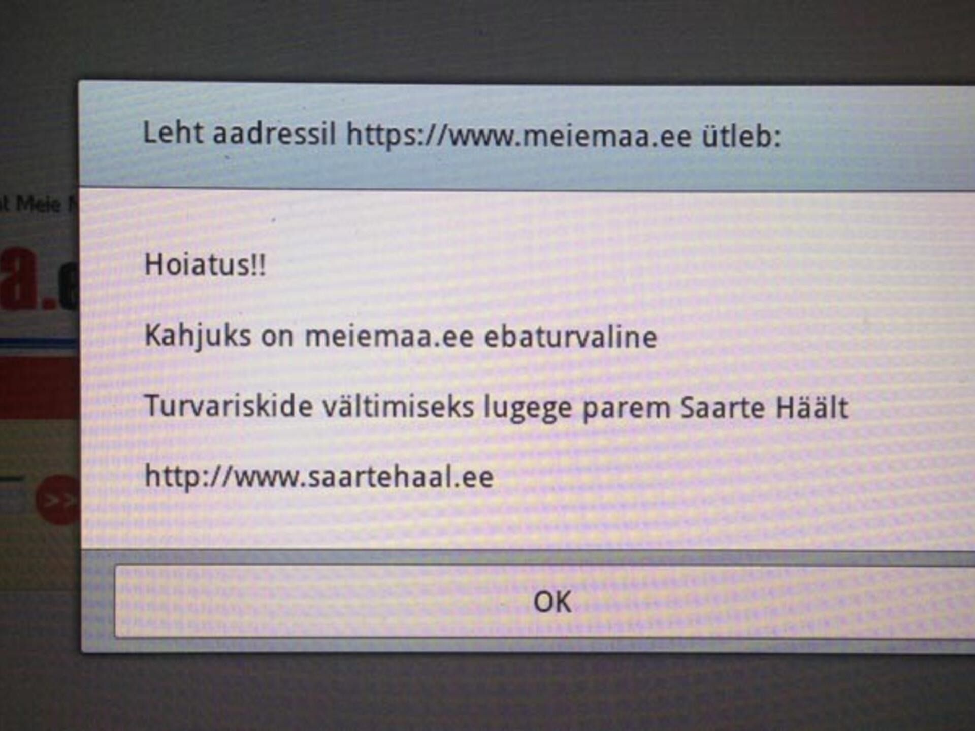 580e078417b Meie Maa veebilehte rünnanud häkker peab maksma 455 eurot   Eesti   ERR