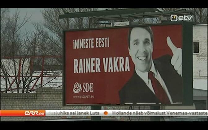 Rainer Vakra valimiskreklaam