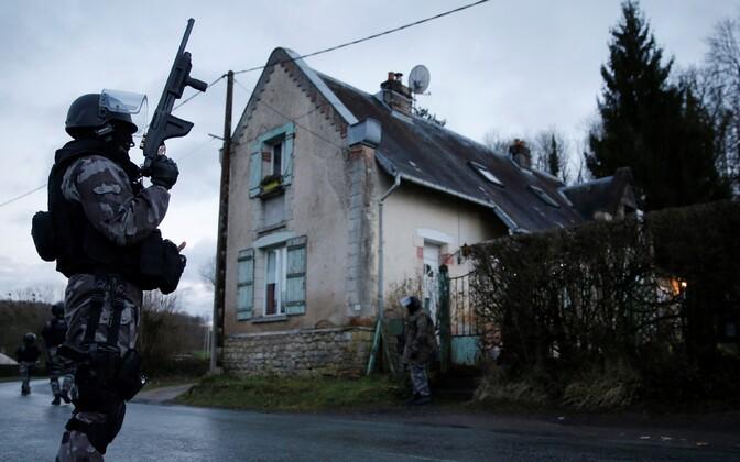 Операция французского спецназа по захвату террористов.