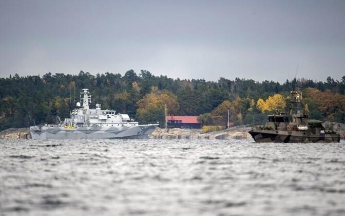 Allveelaevajaht mullu oktoobris Rootsi vetes.