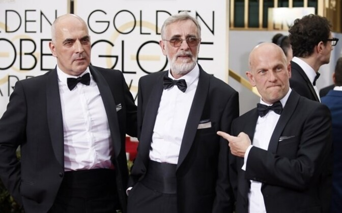 Zaza Urushadze, Lembit Ulfsak and Ivo Felt at the Golden Globes red carpet