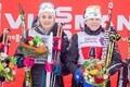 Winners of women's team sprint: Ida Ingemarsdotter and Stina Nilsson, Sweden.