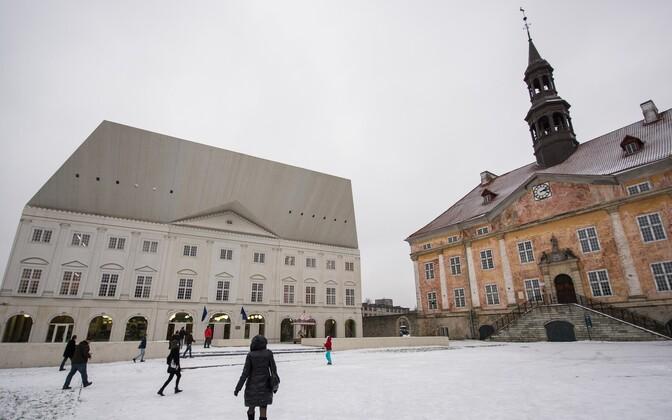 Tartu ülikooli Narva kolledži õppehoone.