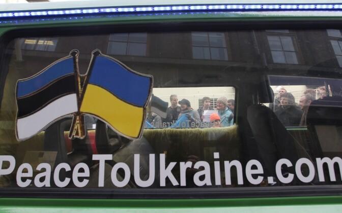 Eelmise aasta kuuendal märtsil protestisid Tartu tudengid Venemaa tegevuse vastu Ukrainas.