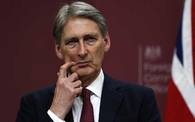 Suurbritannia välisminister Philip Hammond