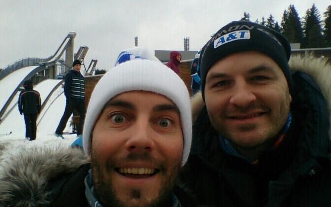 Roald Johannson ja Rasmus Kagge Finlandia-hiihto suusamaratonil