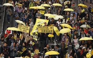 2014. aasta sügisel muutusid kollased vihmavarjud Hongkongi demokraatiameelsete meeleavaldajate sümboliks.