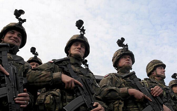 Польские военные учениях НАТО