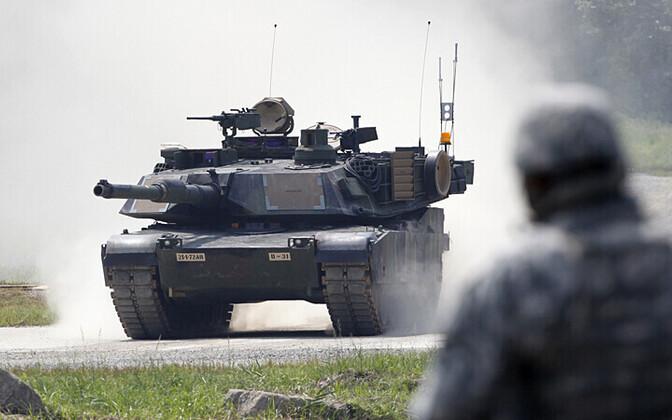 USA tank M1A2 Abrams.