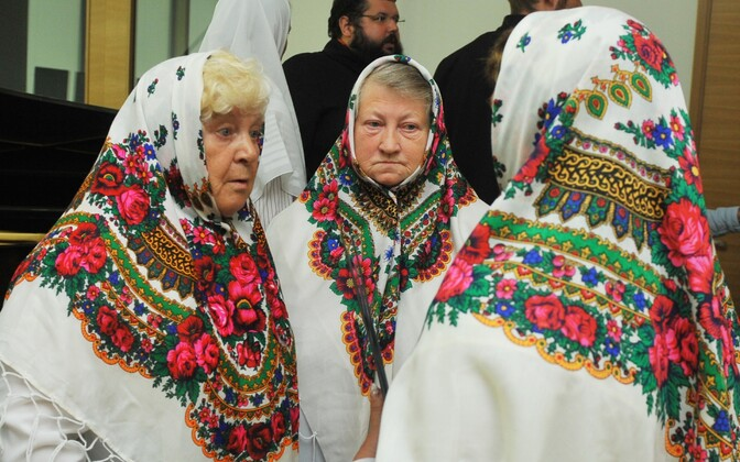 Kallaste Jumalaema Uinumise koguduse naiskoori liikmed. Pilt on illustratiivne.