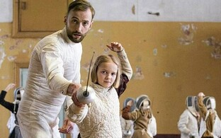 Scene from 'The Fencer'.