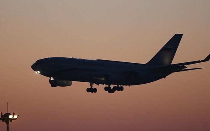 Vene presidendi lennuk 9. novembril 2014 maandumas Pekingi lennujaama; pilt on illustratiivse tähendusega