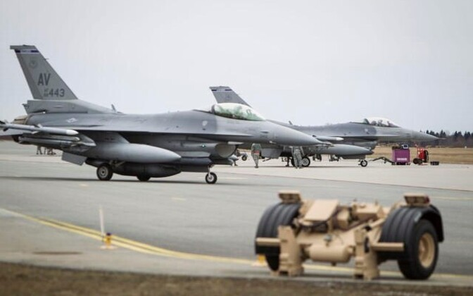 US F-16s at Ämari Air Base in Estonia.