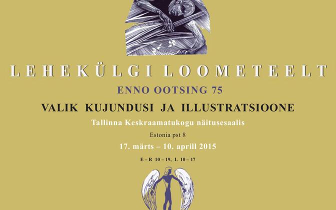 Enno Ootsingu raamatunäitus Tallinna Keskraamatukogus