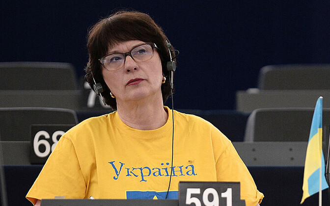 Euroopa Parlamendi Läti saadik Sandra Kalniete 2. märtsil debatil Ukraina kriisi üle Strasbourgis