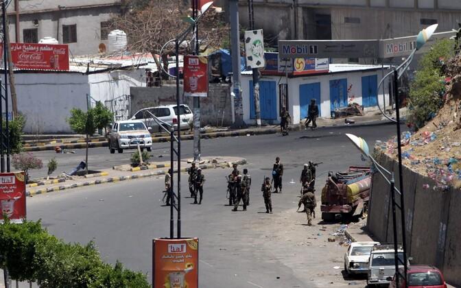 Houthi mässulised kontrollima Sanaad.