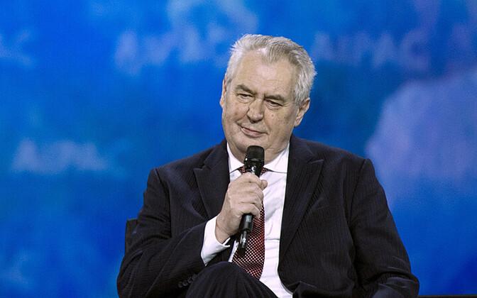 Tšehhi president Miloš Zeman