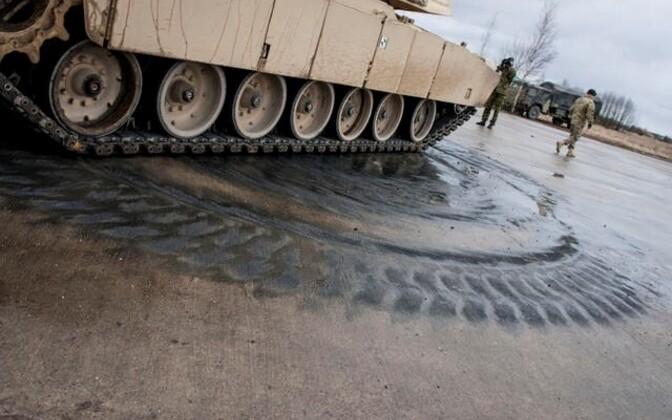 Ühendriikide tankiüksus Tapal.