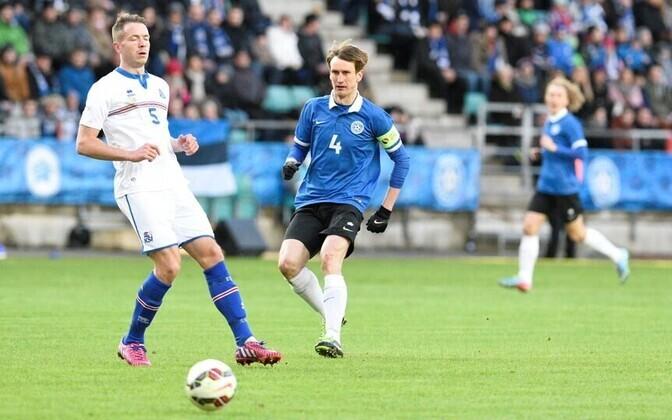 Estonian team captain Raio Piiroja