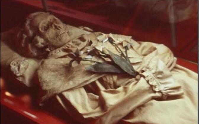 Terézia Hausmanni mumifitseerunud säilmed.