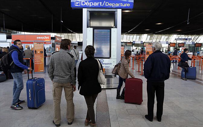 Reisijad 8. aprillil Nice'i lennujaamas
