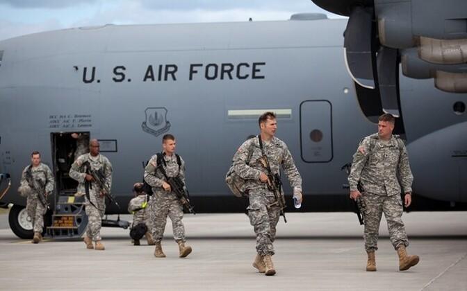 Need USA 173. brigaadi dessantväelased on pildistatud 2014. aastal Ämaris