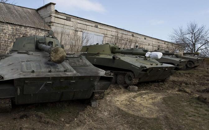 Separatistide lahingutehnika Donetski oblastis