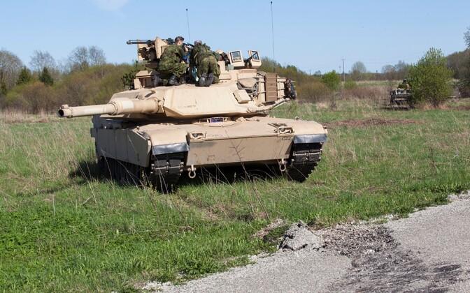 Tank Abrams õppusel Siil 2015