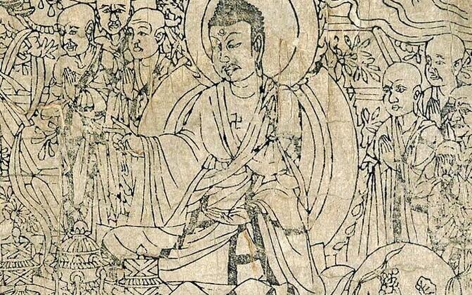 Fragment «Teemantsuutra» illustratsioonist.