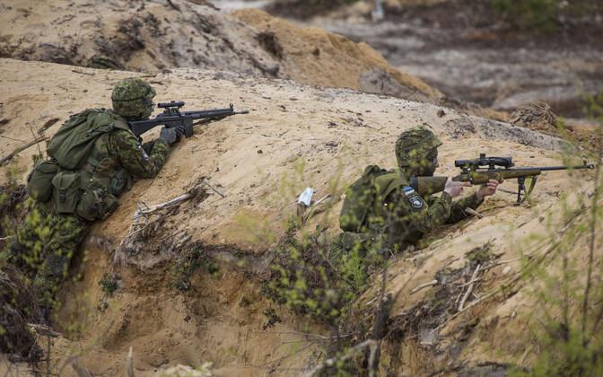 Kaitseväelased õppusel
