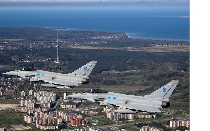 Briti hävitajad Eurofighter Typhoon Tallinna kohal