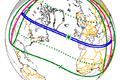 Sinisega on märgirtud ala, kus 1860. aasta 18.juulil päikesevarjutus kõige paremini näha oli.