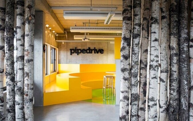 Interior of Pipedrive's Tallinn office.