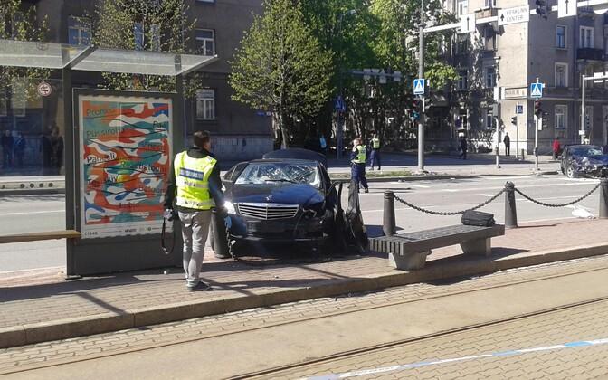 Saturday's collision on Tartu Road