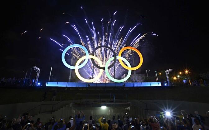 Olümpiarõngad Rio põhjaosas Madureira pargis
