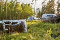 A 25-year-old couple and a 41-year-old driver were killed after a flipping rally car hit spectators Saturday evening.