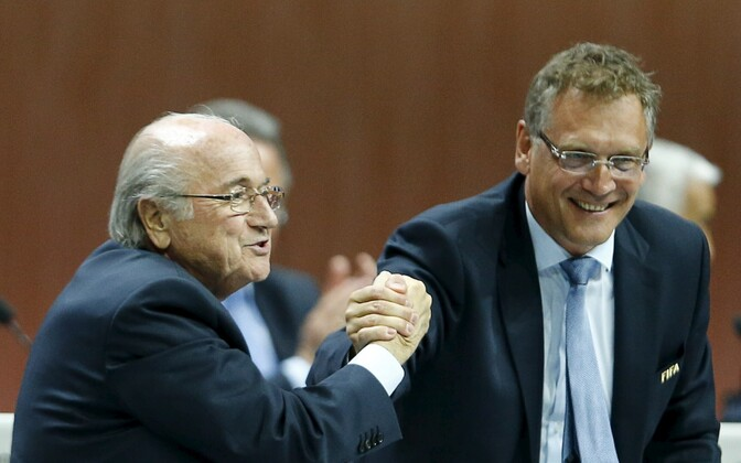 Sepp Blatter ja Jerome Valcke