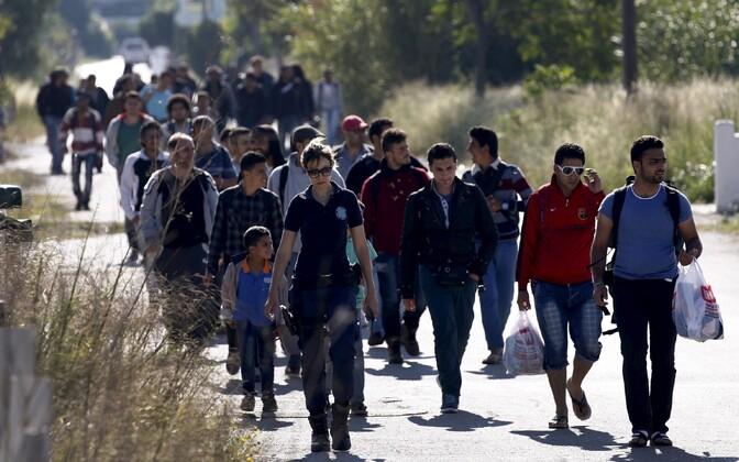 Süüria põgenikud Kreekas Kos´i saarel.