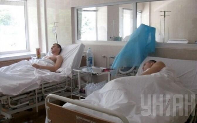 Haavatud Ukraina sõdurid Dnipropetrovski haiglas