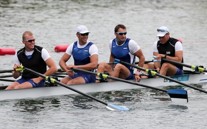 Eesti neljapaat (Kaspar Taimsoo, Tõnu Endrekson, Allar Raja, Andrei Jämsä) Londoni olümpial