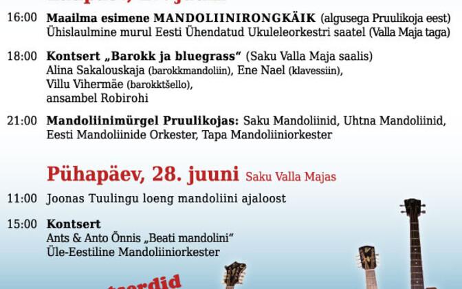 II Saku mandoliinifestivali plakat.
