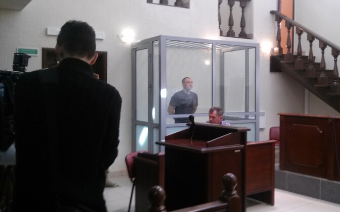 Eston Kohver on trial in Pskov.