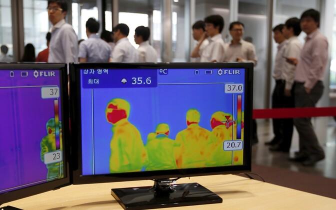 Kõigi kontorihoonesse tööle minevate inimeste kehatemperatuuri mõõdetakse infrapunakaameratega, et märgata, kui mõnel inimesel peaks olema palavik, mis on üks MERSi haigussümptomitest.