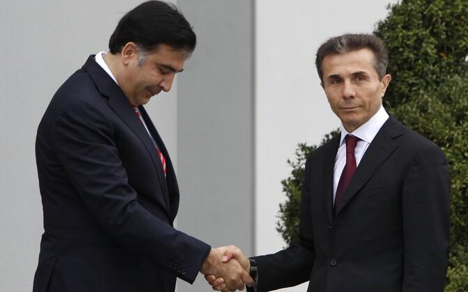 Mihheil Saakašvili ja Bidzina Ivanišvili.